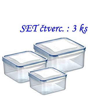 Doza SET 3ks ( 0,4+0,7+1,2) čtvercová FreshBox 892040